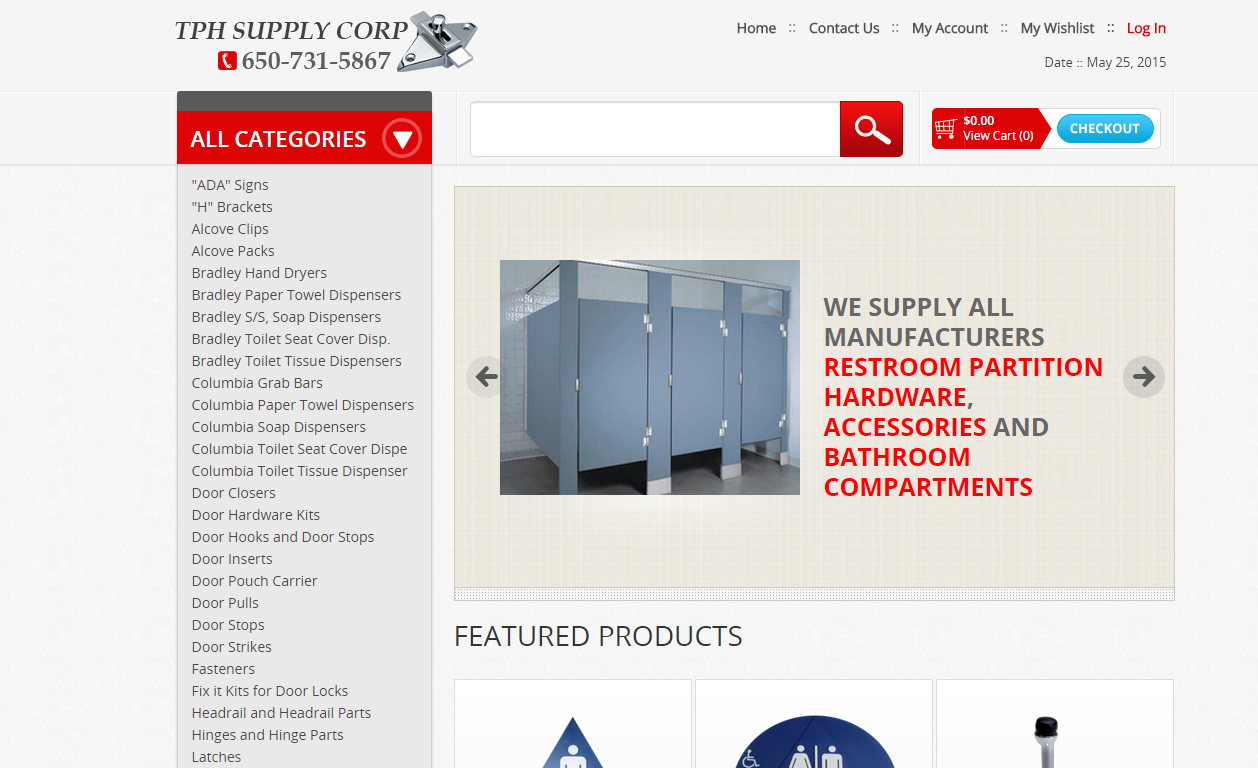 Bathroom Partition Hardware Site In Magento - Bathroom partition hardware