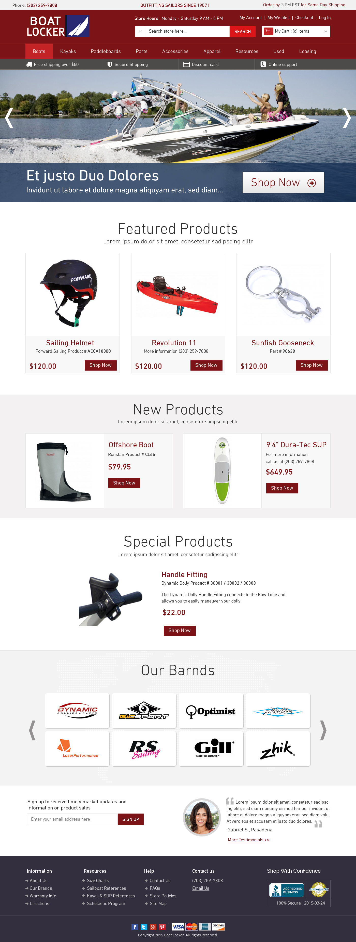 sailors outfitting magento ecommerce template