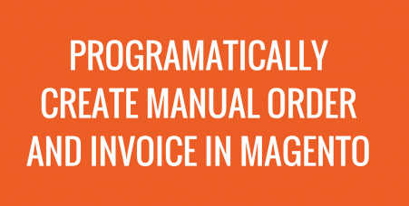 magento manual order and invoice