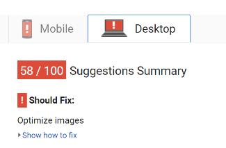 google pagespeed tool