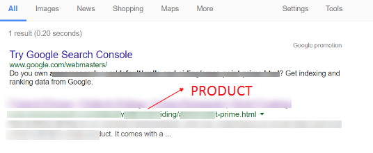 noncanonical product url