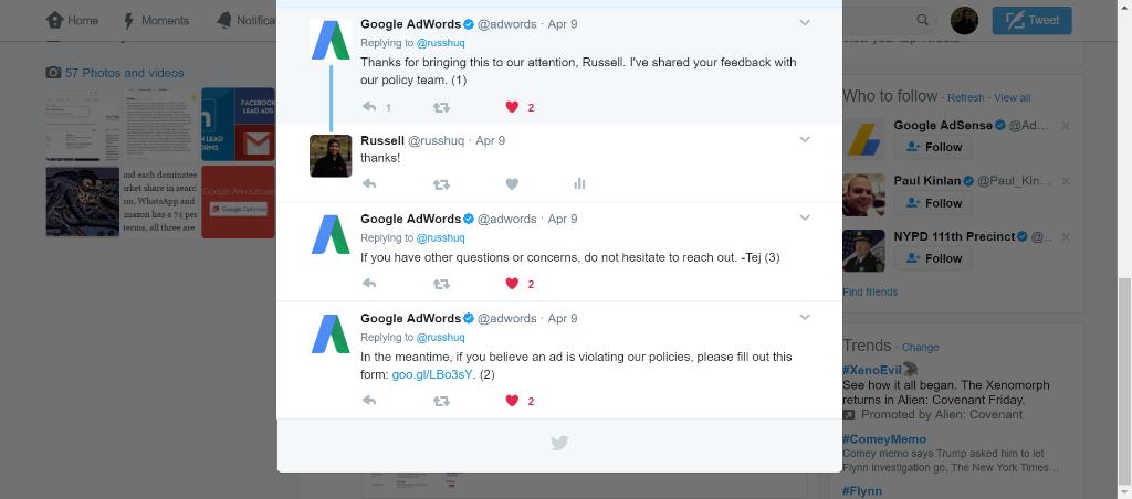 google adwords april 8 tweet